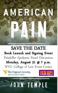 American Pain Book Launch: August 31